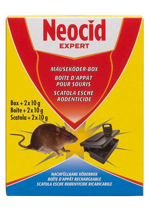 Schädlingsbekämpfung & Insektenschutz gegen Nagetiere: Neocid EXPERT Mäuseköder Box